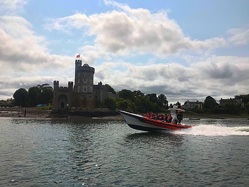 Stags and Hens Passing Blackrock Castle