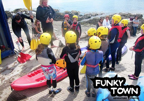 Funkytown Summer Camps Hitting Water in Kayaks